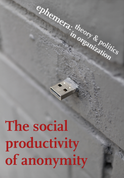 The social productivity of anonymity